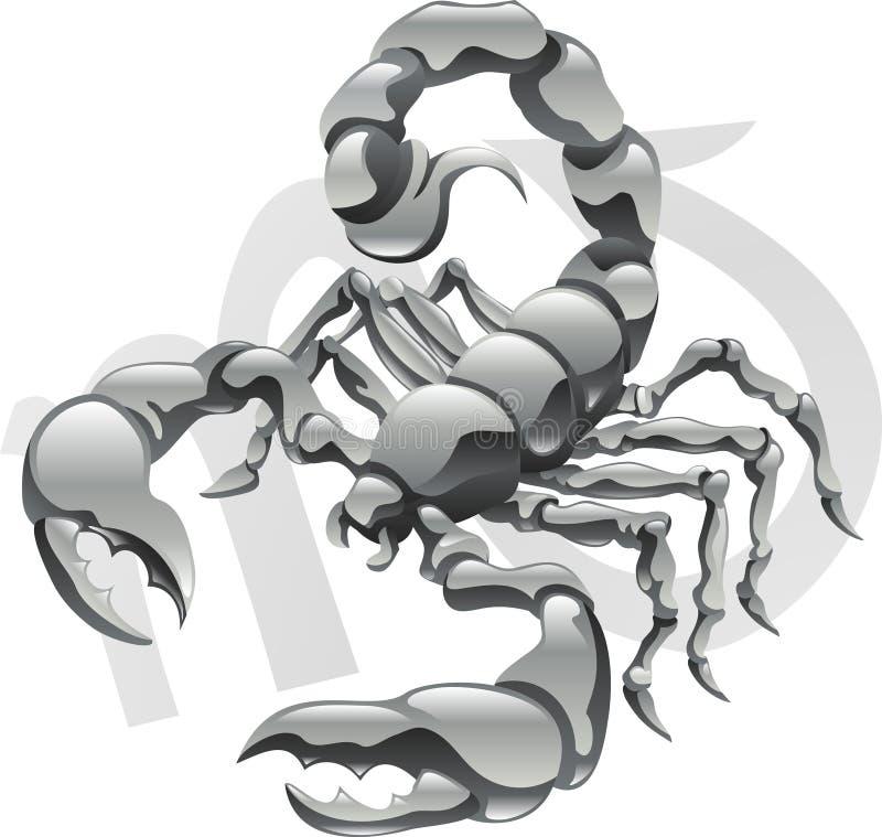 звезда знака скорпиона scorpio иллюстрация вектора