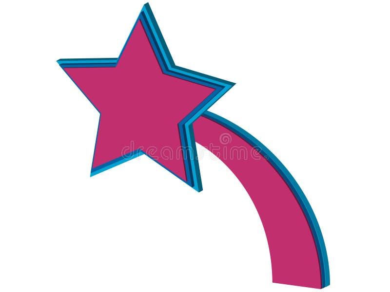 Download звезда знамени иллюстрация вектора. иллюстрации насчитывающей изолировано - 6861517
