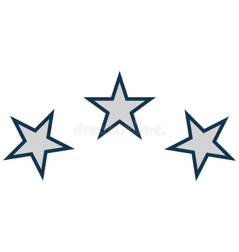 Звезда, значок вектора украшения изолированный звездой для партии и торжество иллюстрация штока