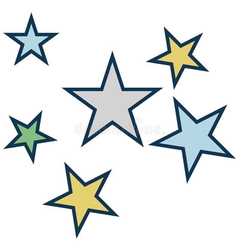 Звезда, значок вектора украшения изолированный звездой для партии и торжество иллюстрация вектора