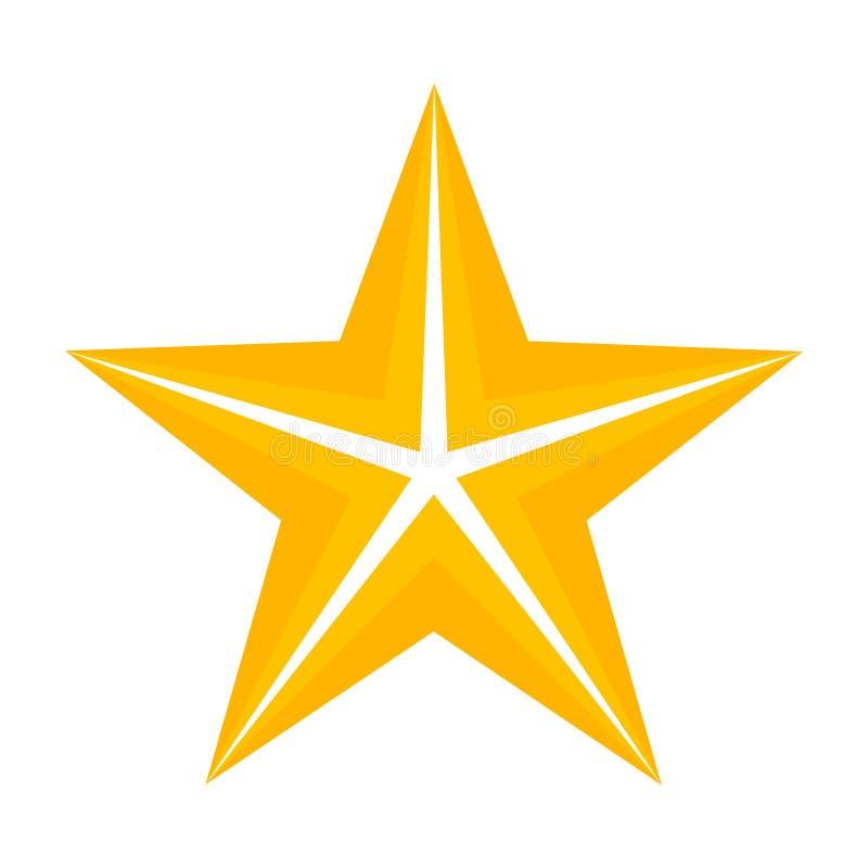 Звезда золота 5 пунктов иллюстрация штока