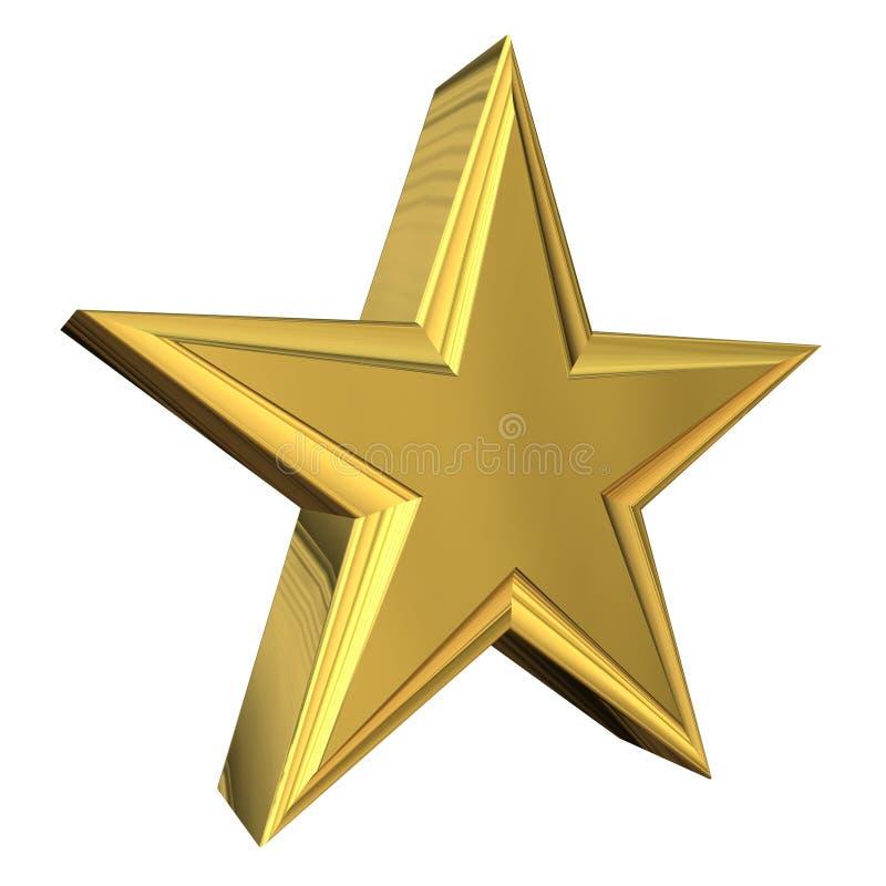 звезда золота 3d иллюстрация вектора