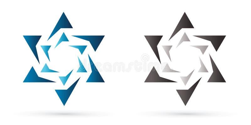 Звезда Израиля, современная звезда, еврейская звезда, роскошный графический вектор иллюстрация штока