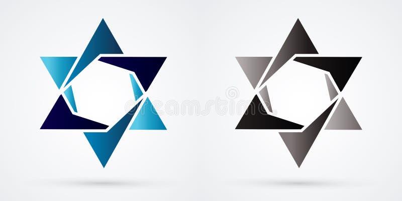 Звезда Израиля, современная звезда, еврейская звезда, роскошный графический вектор иллюстрация вектора