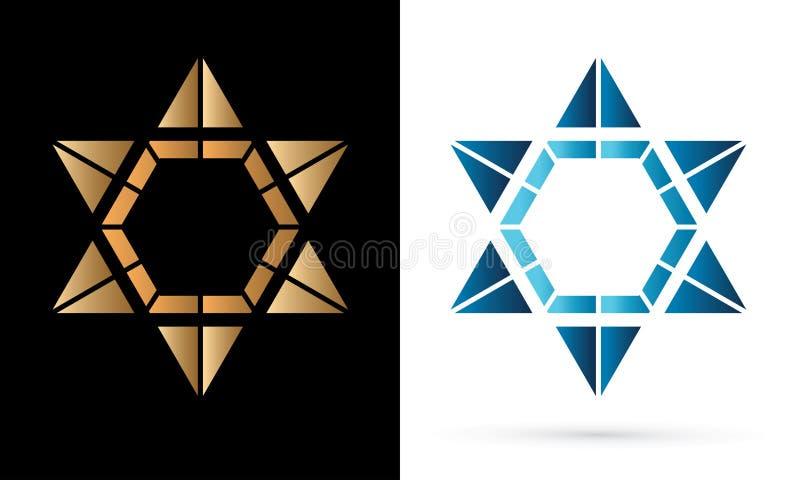 Звезда Израиля, современная звезда, еврейская звезда, роскошный графический вектор бесплатная иллюстрация
