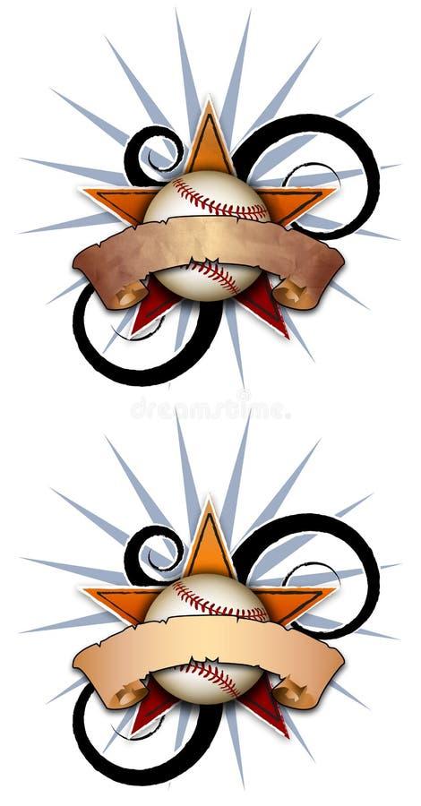звезда иллюстрации одного бейсбола иллюстрация вектора