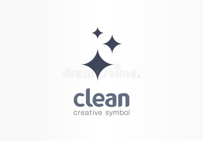 Звезда искры, свежая творческая концепция символа Молния, астрономия, слепимость, логотип дела конспекта компании чистки иллюстрация вектора