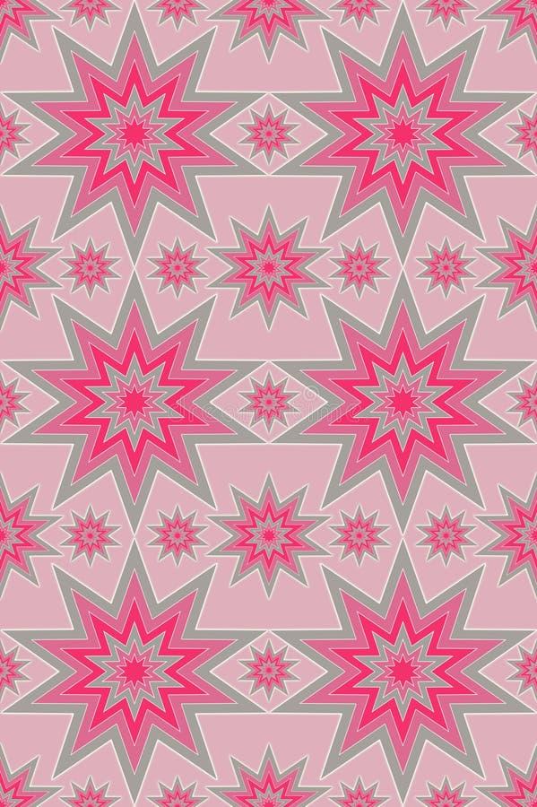 звезда картины розовая серебряная иллюстрация штока