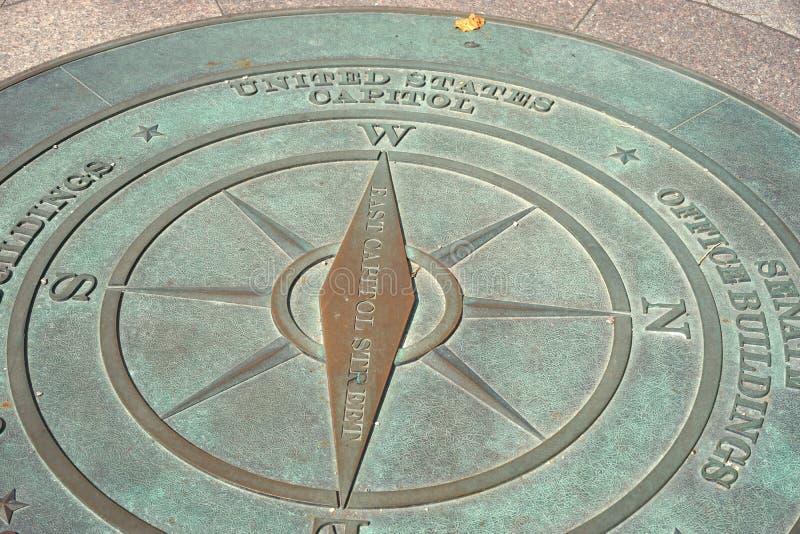 Звезда компаса капитолия Соединенных Штатов стоковая фотография rf