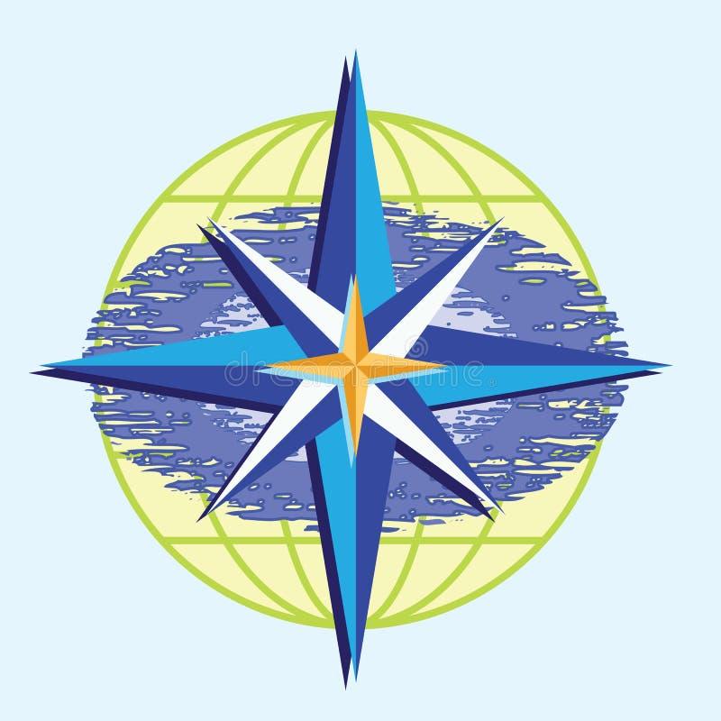 звезда компаса иллюстрация вектора