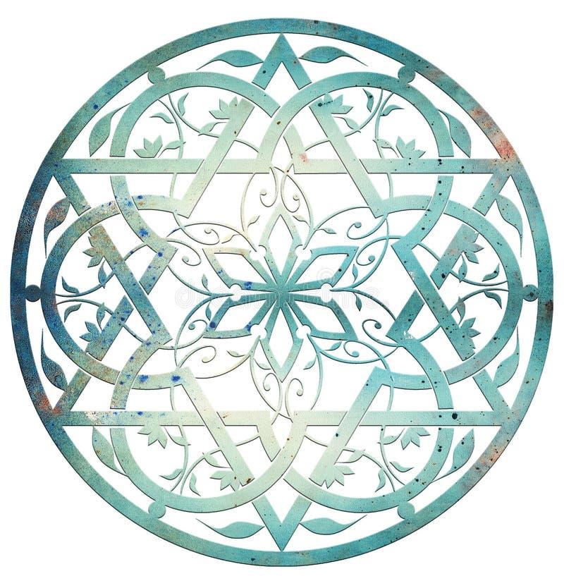 звезда конструкции Давида бесплатная иллюстрация