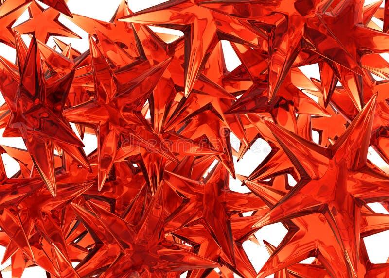 звезда красного цвета предпосылки иллюстрация вектора