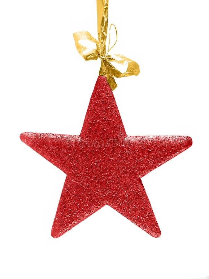 звезда красного цвета яркия блеска рождества стоковые изображения rf