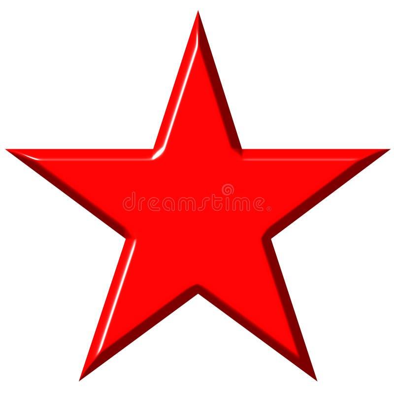 Download звезда красного цвета Cummunist 3d Иллюстрация штока - иллюстрации насчитывающей конструкция, радиус: 6859944
