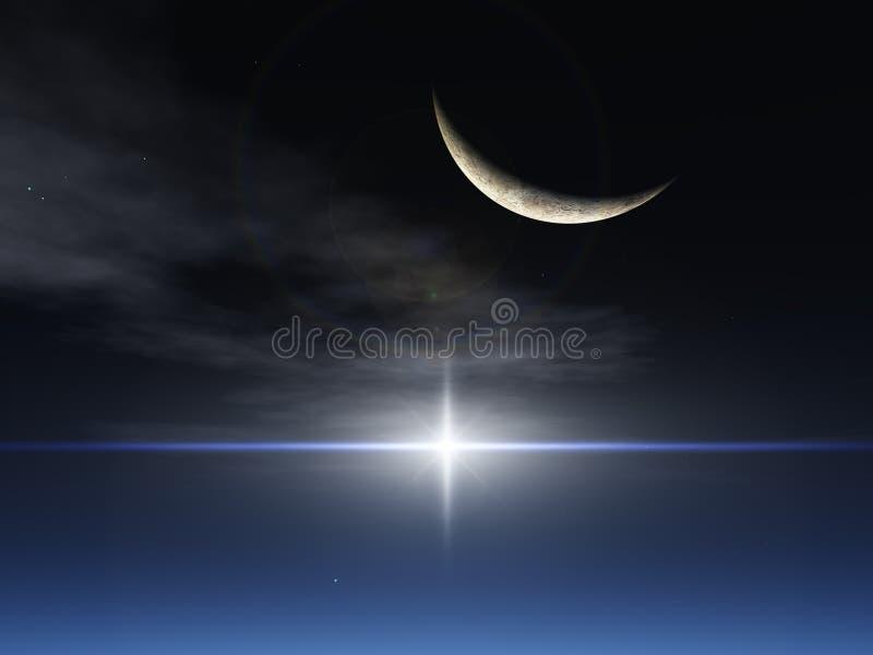 звезда луны фантазии бесплатная иллюстрация