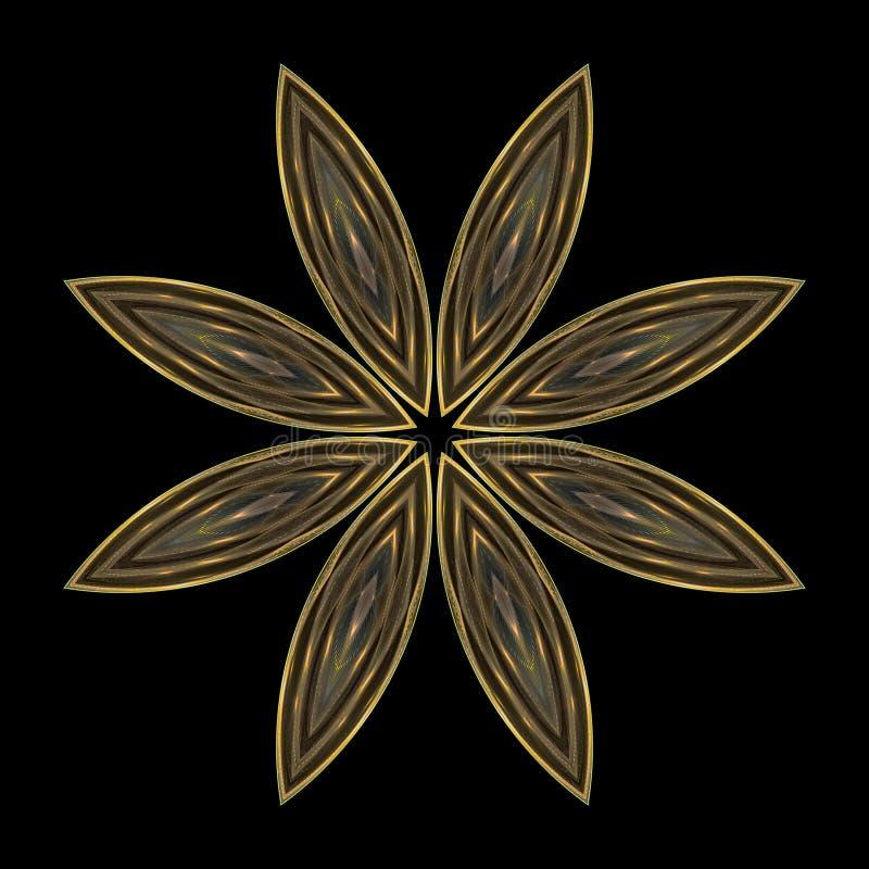 звезда мандала cloisonne иллюстрация вектора