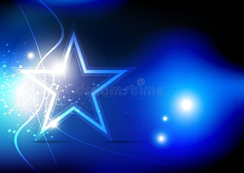 Звезда на этапе иллюстрация вектора