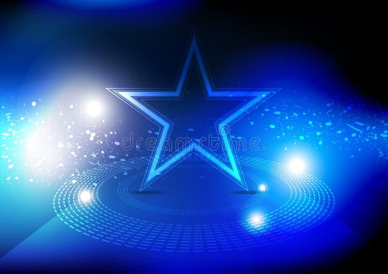 Звезда на этапе бесплатная иллюстрация