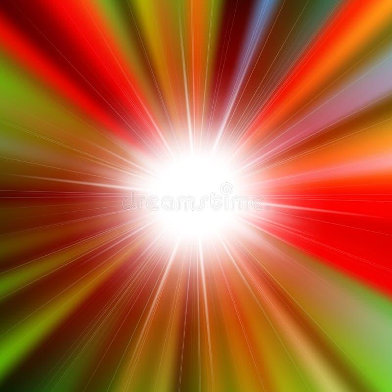 Звезда пирофакела яркая сияющая иллюстрация штока
