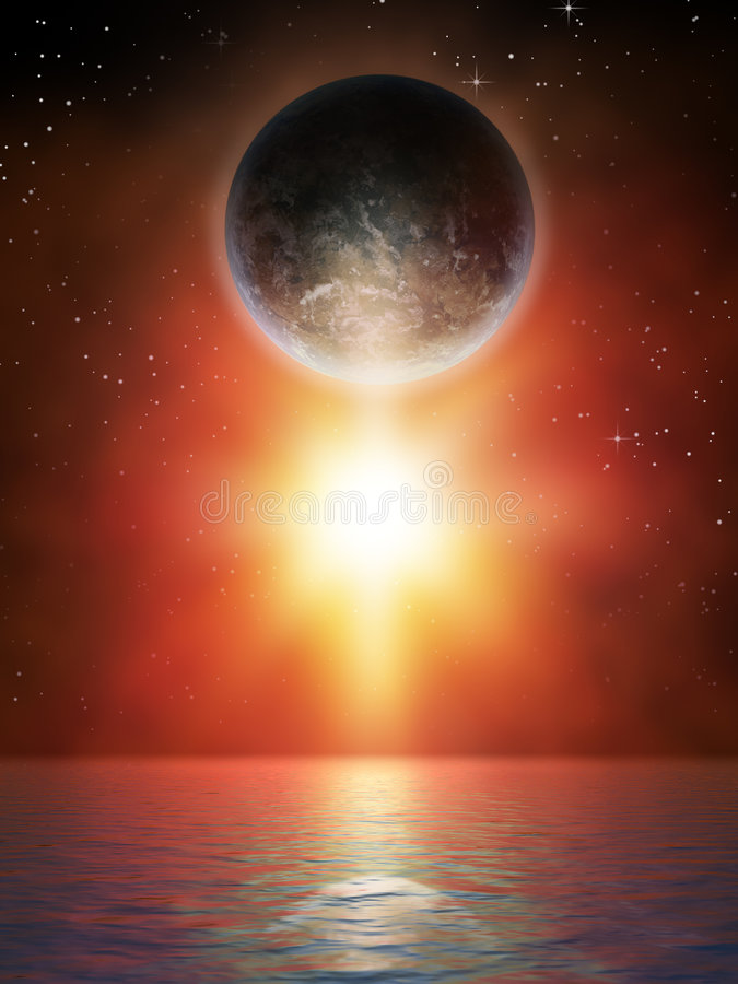 звезда планеты иллюстрация штока