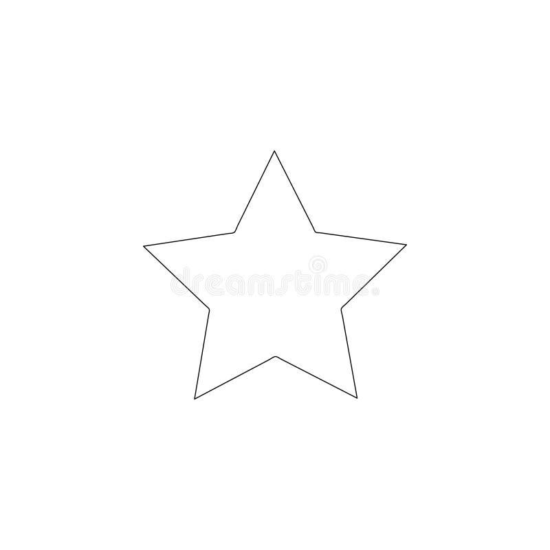 Звезда плоский значок вектора бесплатная иллюстрация