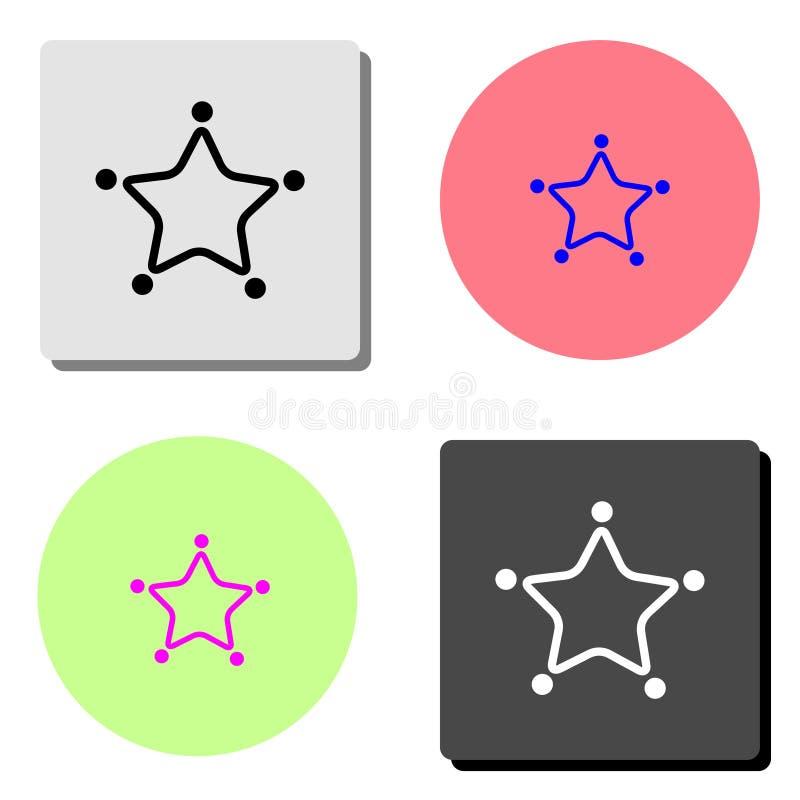 звезда Плоский значок вектора иллюстрация штока