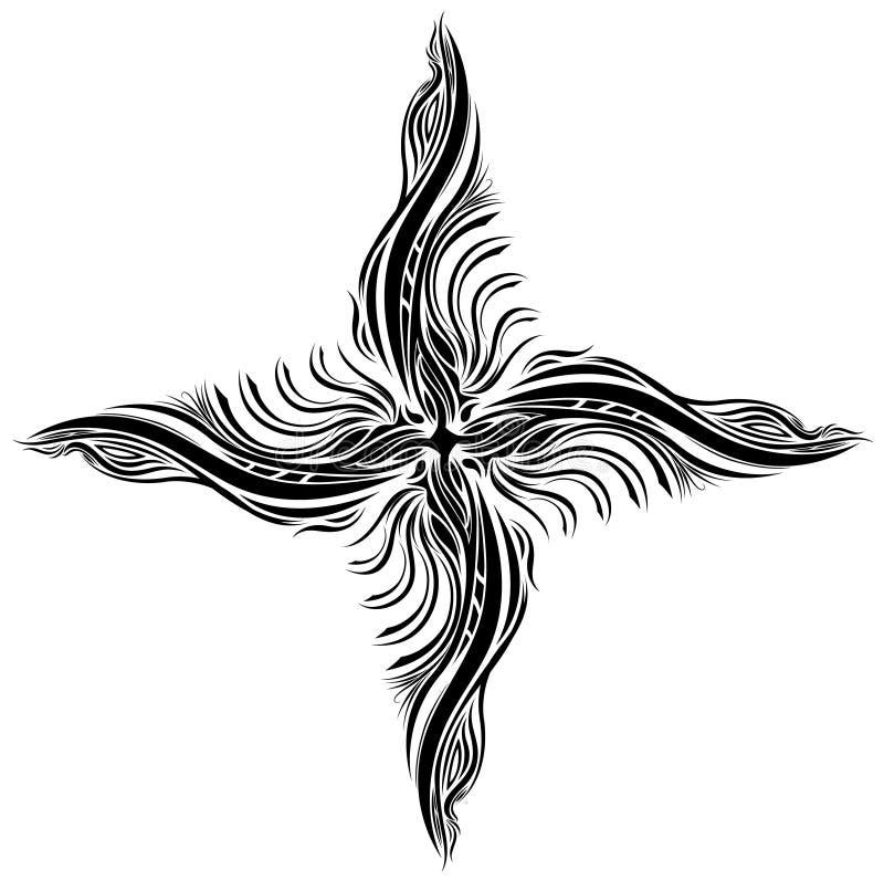 звезда подачи иллюстрация вектора