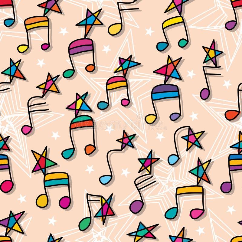 Звезда примечания музыки как следовать безшовной картиной бесплатная иллюстрация
