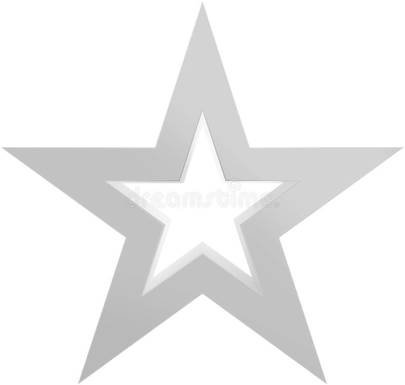 Звезда 5 пунктов звезды рождества бело- законспектированная - изолированная на белизне бесплатная иллюстрация