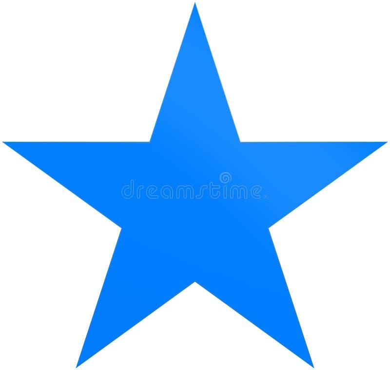Звезда 5 пунктов звезды рождества сине- простая - изолированная на белизне бесплатная иллюстрация