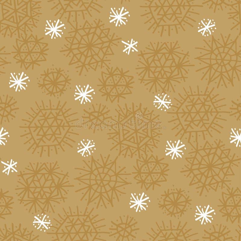 Звезда ремесла естественная и картина снежинок безшовная бесплатная иллюстрация