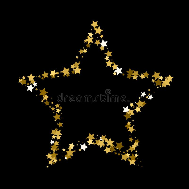 звезда рождества золотистая Предпосылка confetti звезды золота бесплатная иллюстрация