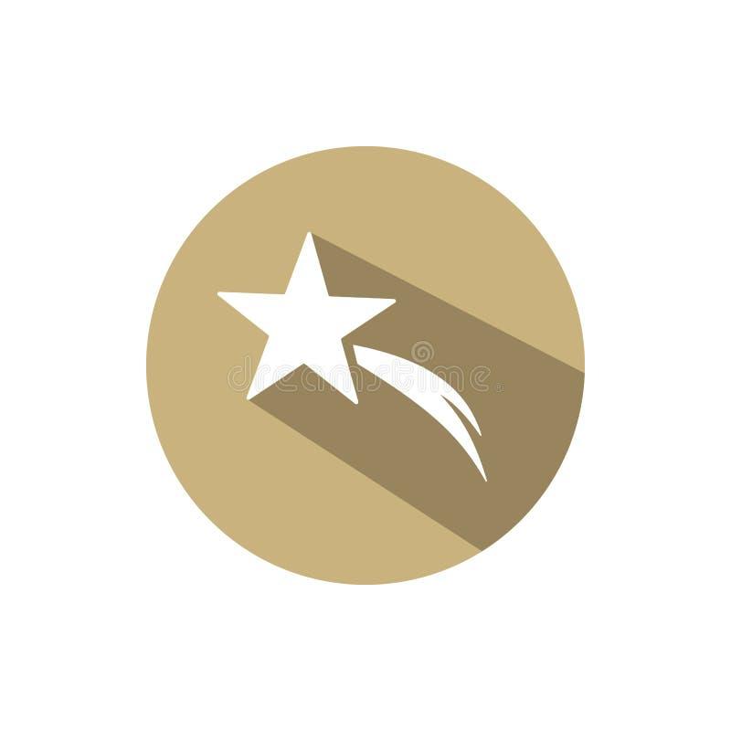 Звезда рождества на золотом круге с тенью иллюстрация штока