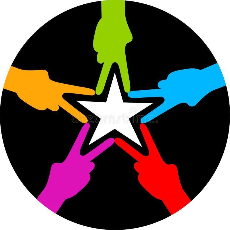 Звезда руки иллюстрация вектора