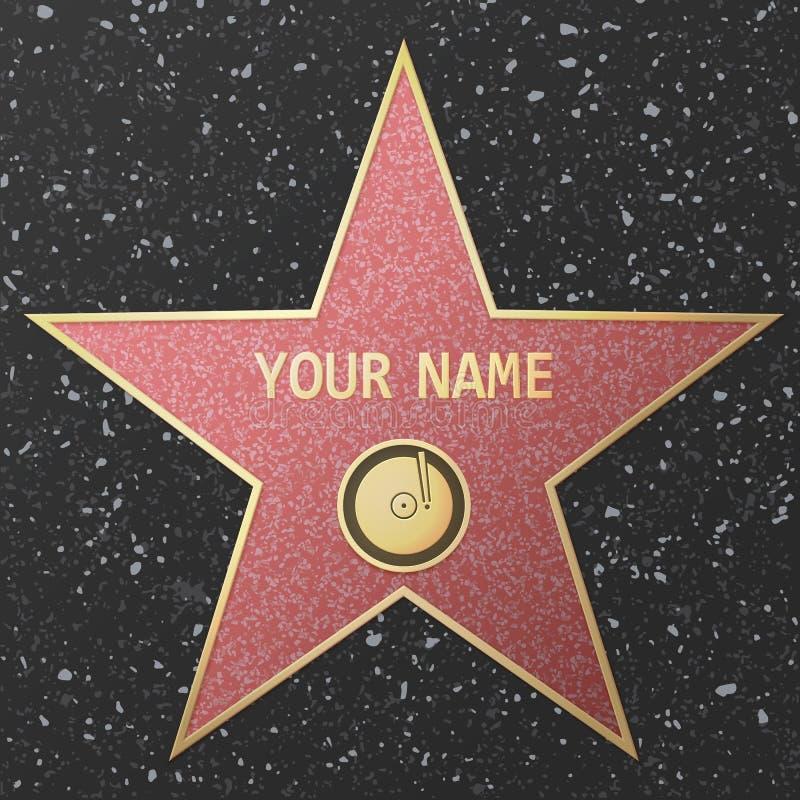 Звезда славы Голливуда иллюстрация вектора