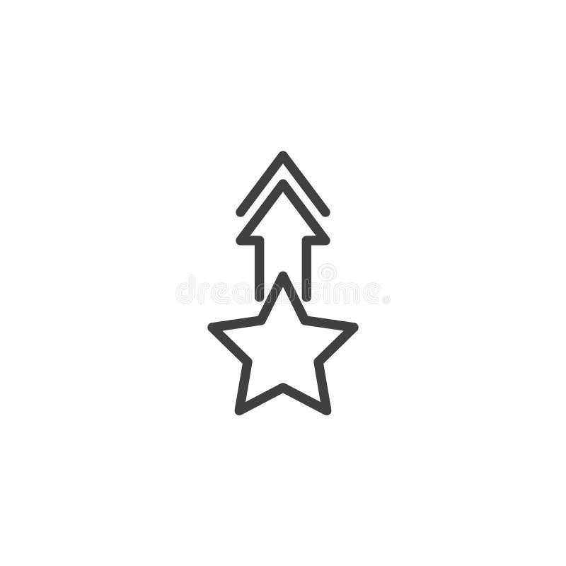 Звезда со стрелкой вверх по линии значку бесплатная иллюстрация