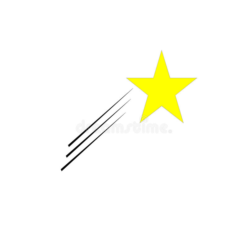 звезда стрельбы иллюстрация вектора