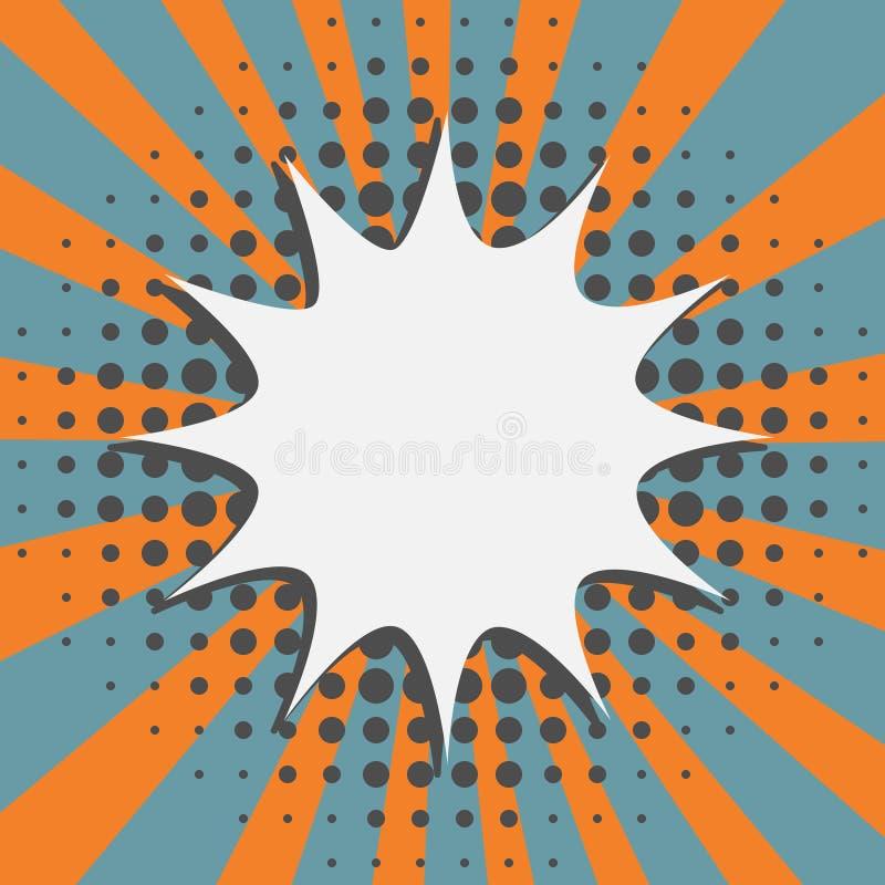 Звезда сформировала пузырь шума в ретро элементах дизайна стиля шаржа иллюстрация вектора
