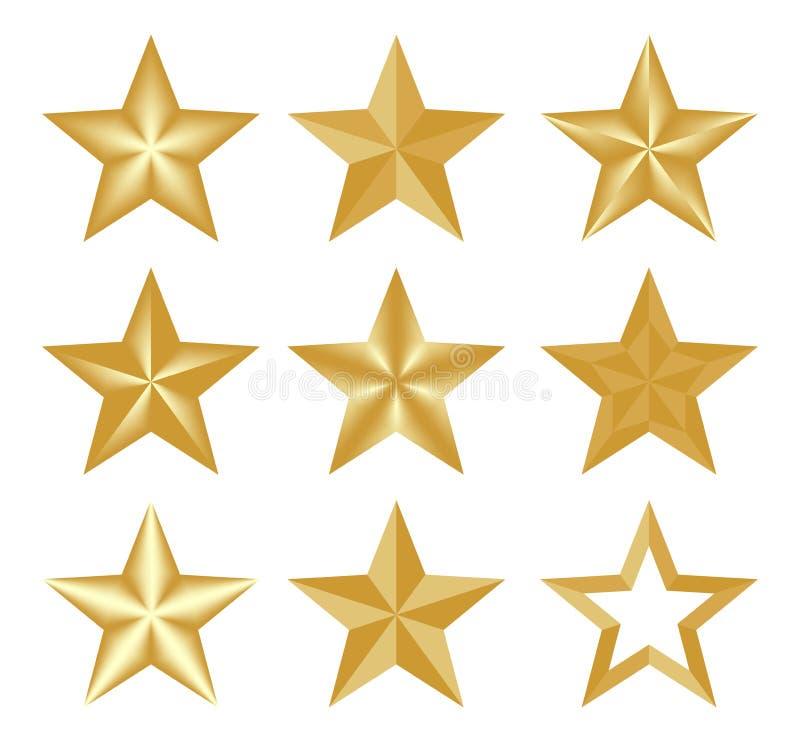 Звезда установленного рождества вектора золота классическая элегантная Звезды составленные вверх светлых и темных геометрических  иллюстрация штока