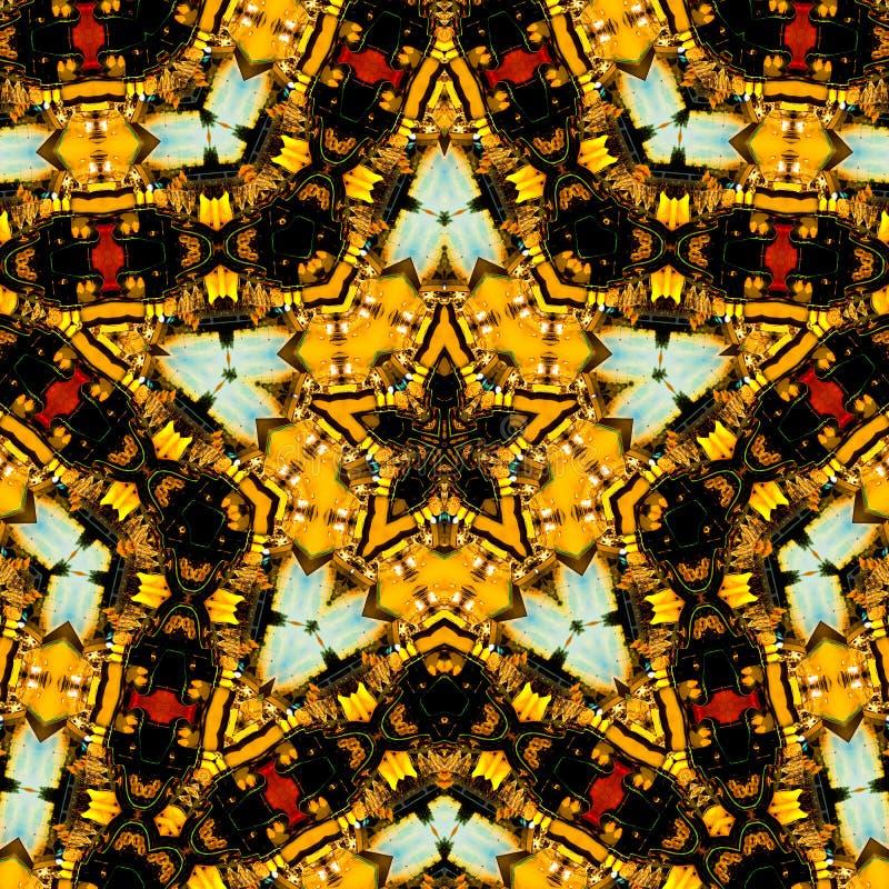 звезда формы kaleidoscope стоковое фото