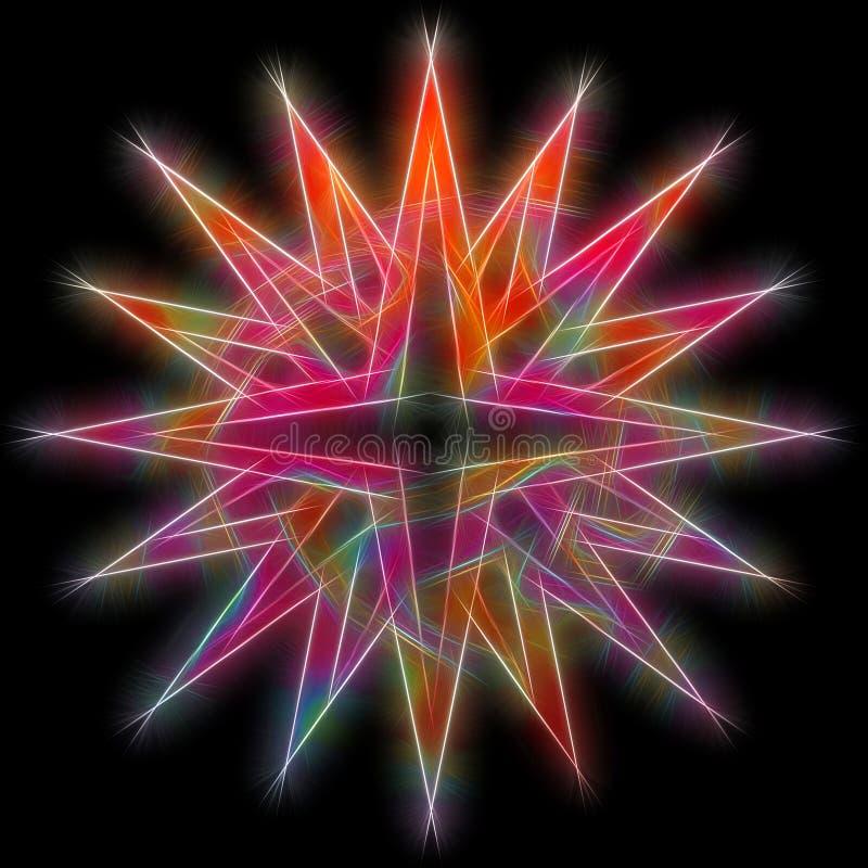звезда фрактали глянцеватая бесплатная иллюстрация