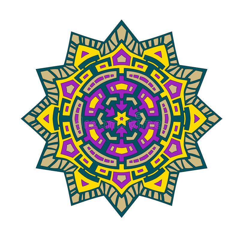 Звезда цвета мандалы стоковые фото