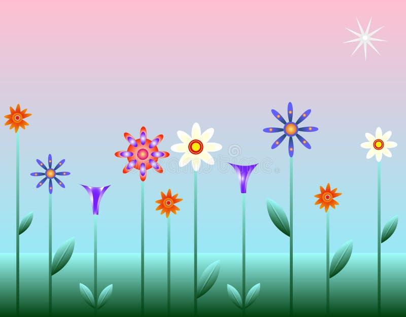 звезда цветка иллюстрация штока