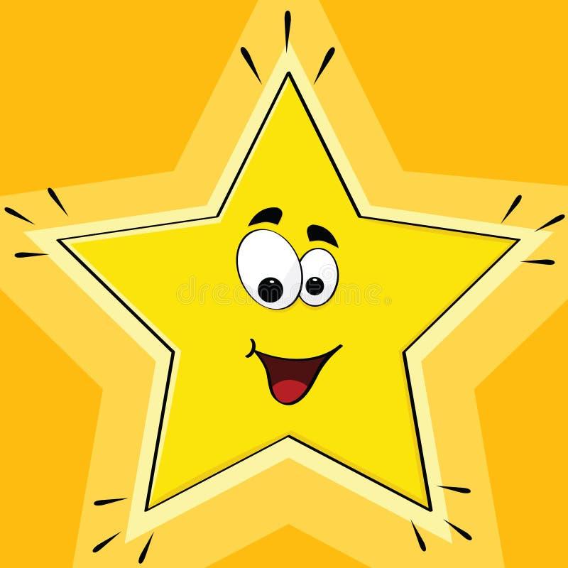 звезда шаржа иллюстрация вектора