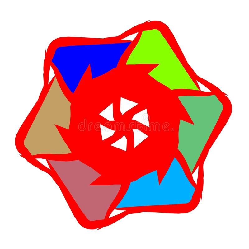 Звезда шестерни стоковые изображения rf