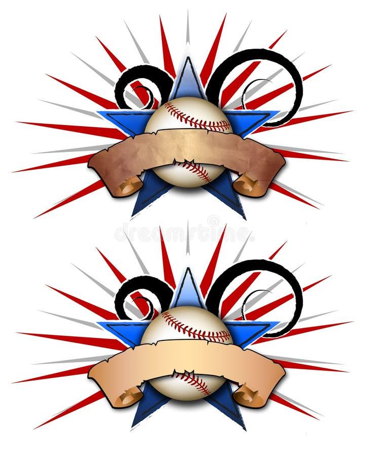 звезда 2 иллюстрации бейсбола бесплатная иллюстрация