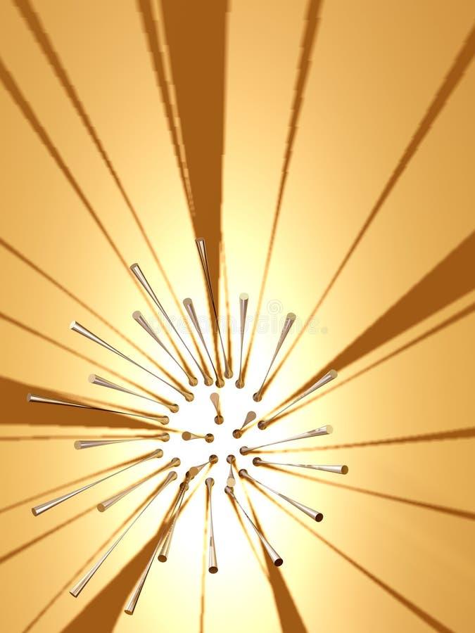 звезда 2 странная иллюстрация вектора