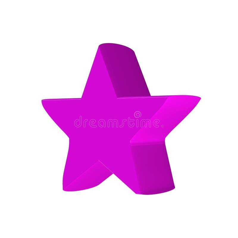 звезда 3d иллюстрация вектора