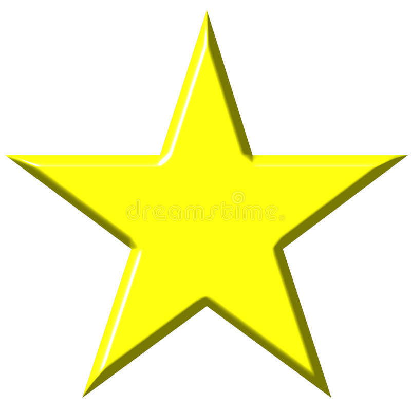 звезда 3d иллюстрация штока