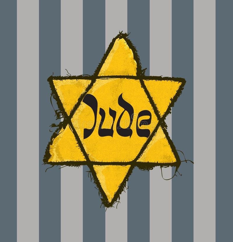 Звезда Jude и pyjamas концентрационного лагеря бесплатная иллюстрация